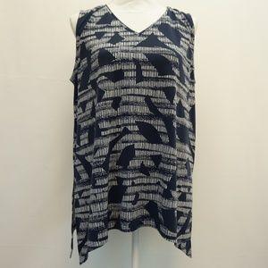 Alfani Petite Sleeveless Printed Swing Jersey Top